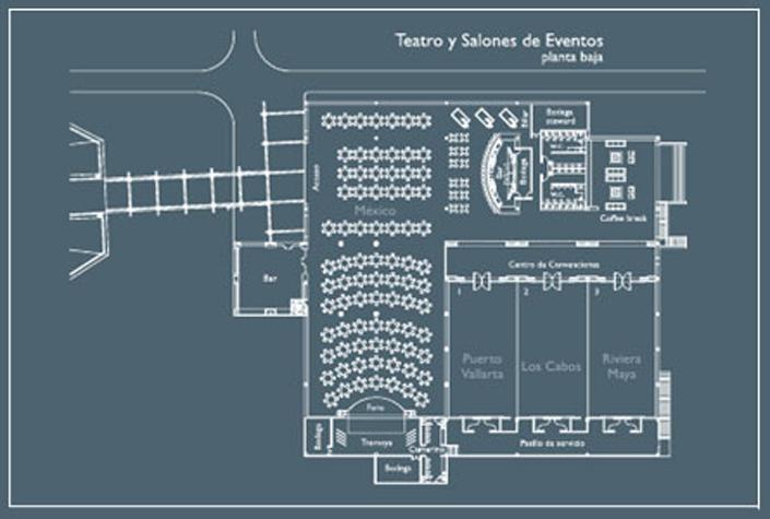Eventos bluebay grand esmeralda riviera maya m xico for Salon de usos multiples programa arquitectonico